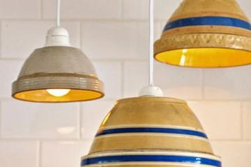 tányér lámpa