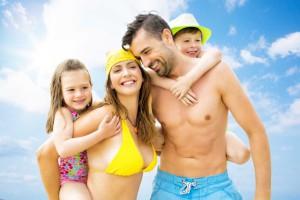 nyár, nyaralás, család