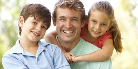 apa és gyerekek