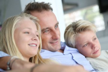 apa és két gyermeke
